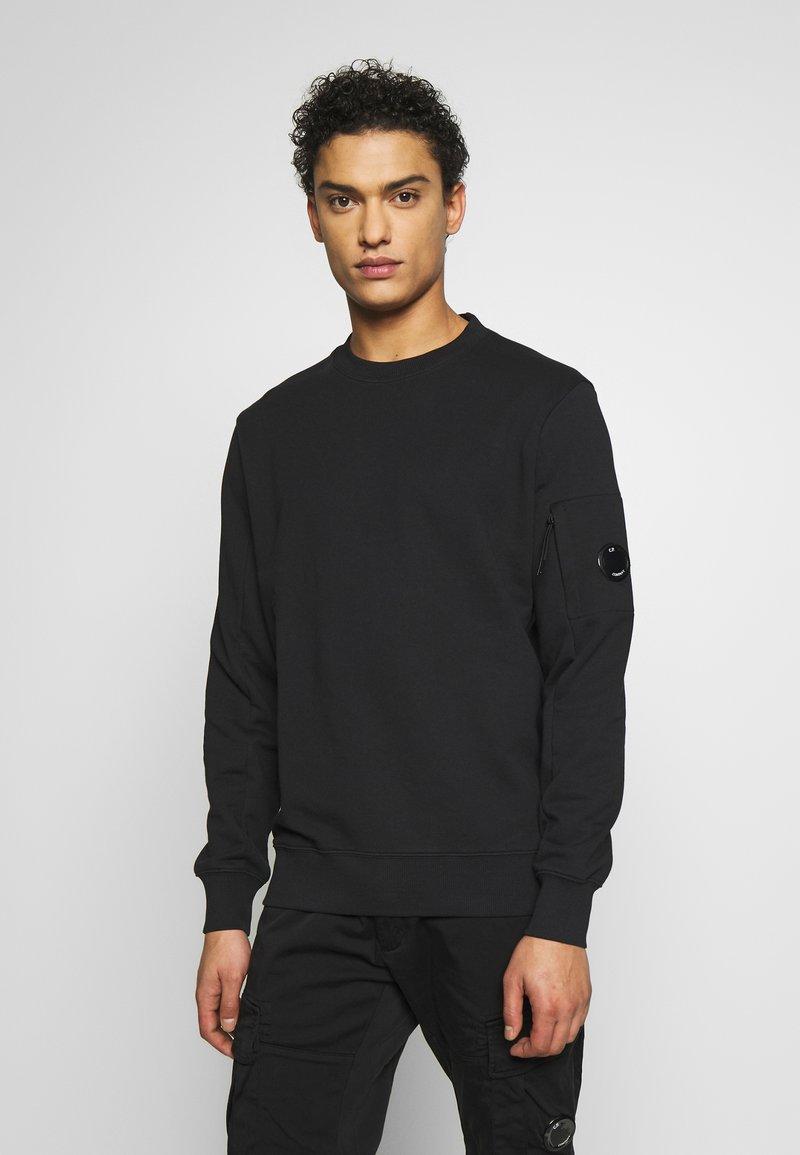 C.P. Company - CREW NECK DIAGONAL - Sweatshirt - black