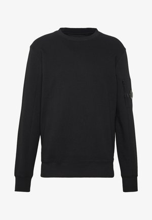 CREW NECK DIAGONAL - Sweatshirt - black