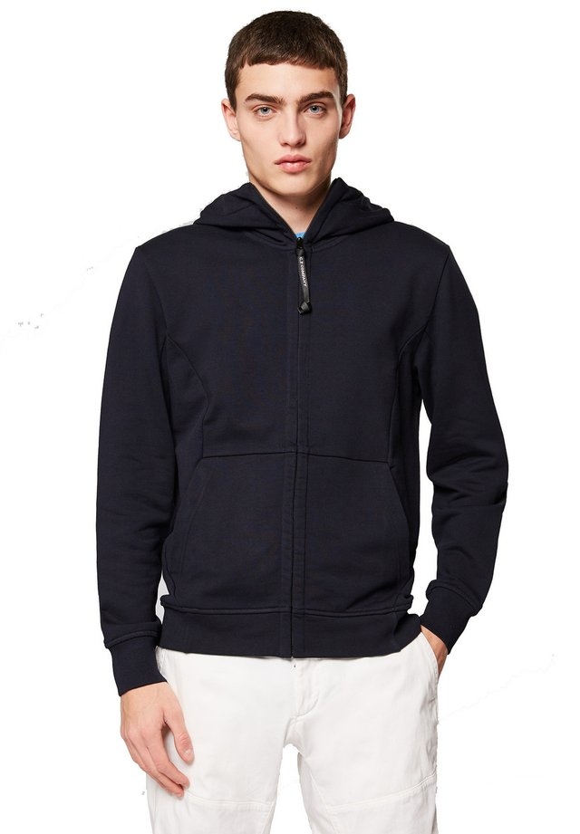 HOODED OPEN DIAGONAL - Zip-up hoodie - 888 - total eclipse