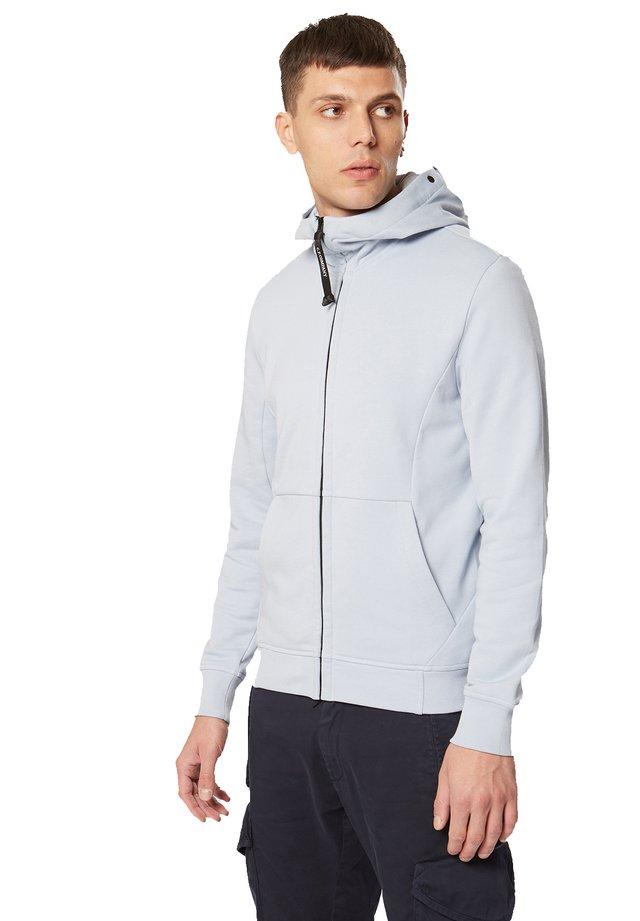 HOODED OPEN DIAGONAL - Zip-up hoodie - 817 - halogen blue