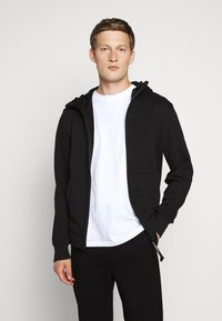 C.P. Company - HOODED OPEN DIAGONAL - Mikina na zip - black - 0
