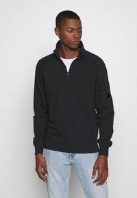 C.P. Company - POLO COLLAR - Sweatshirt - black - 0