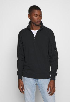 POLO COLLAR - Sweatshirt - black