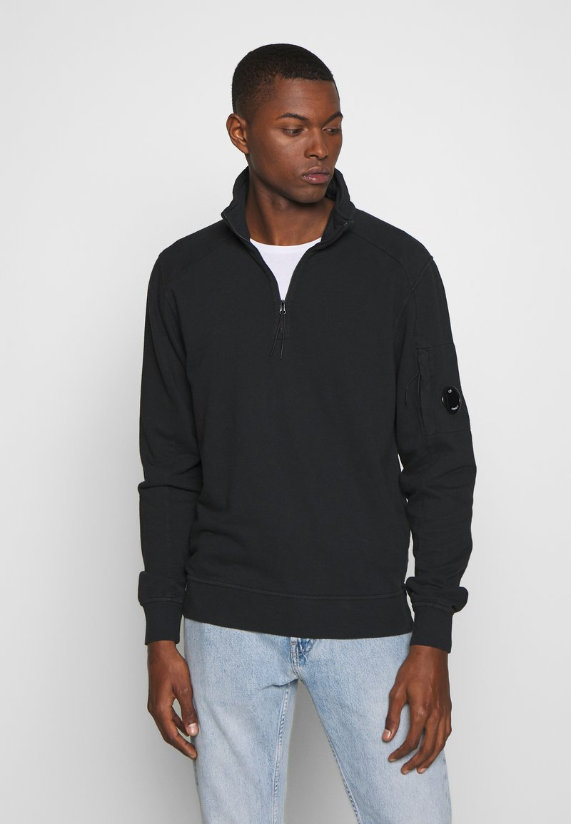 C.P. Company - POLO COLLAR - Sweatshirt - black