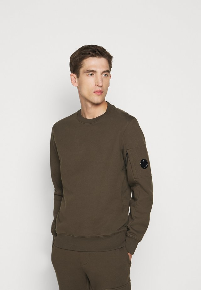 CREW NECK - Felpa - ivy green