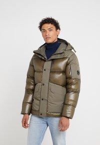 C.P. Company - MEDIUM JACKET SHELL - Down jacket - dark olive - 0