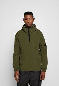 C.P. Company - MEDIUM JACKET HALF ZIP - Windbreaker - forest night - 0