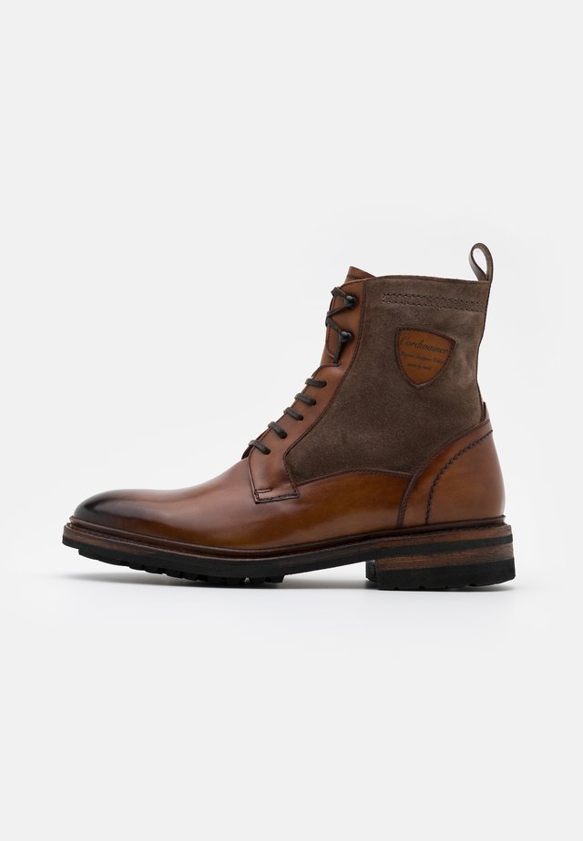 Lace-up ankle boots - capri noce/venecia leaf
