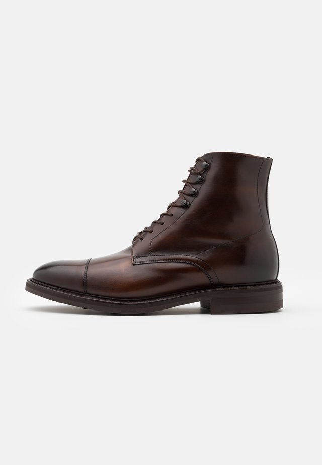 DAVID - Lace-up ankle boots - elba espresso