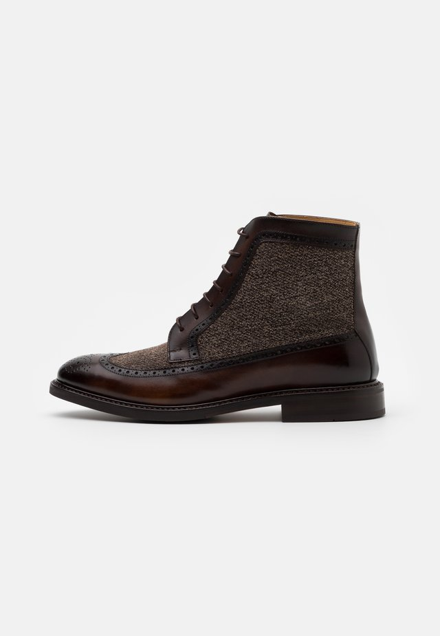 Lace-up ankle boots - turin espresso