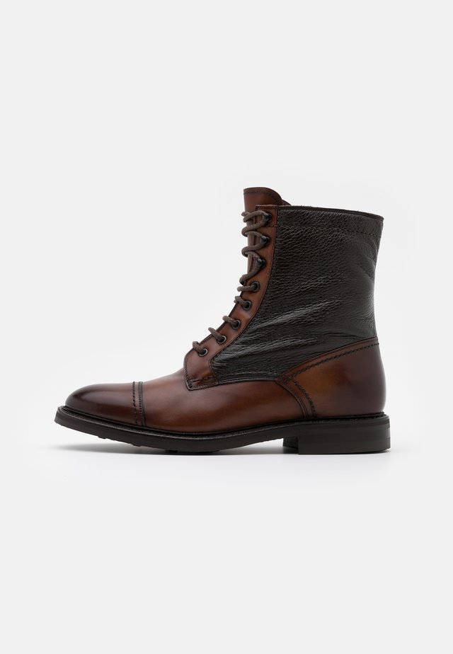 CHRIS - Lace-up ankle boots - castagna/testa