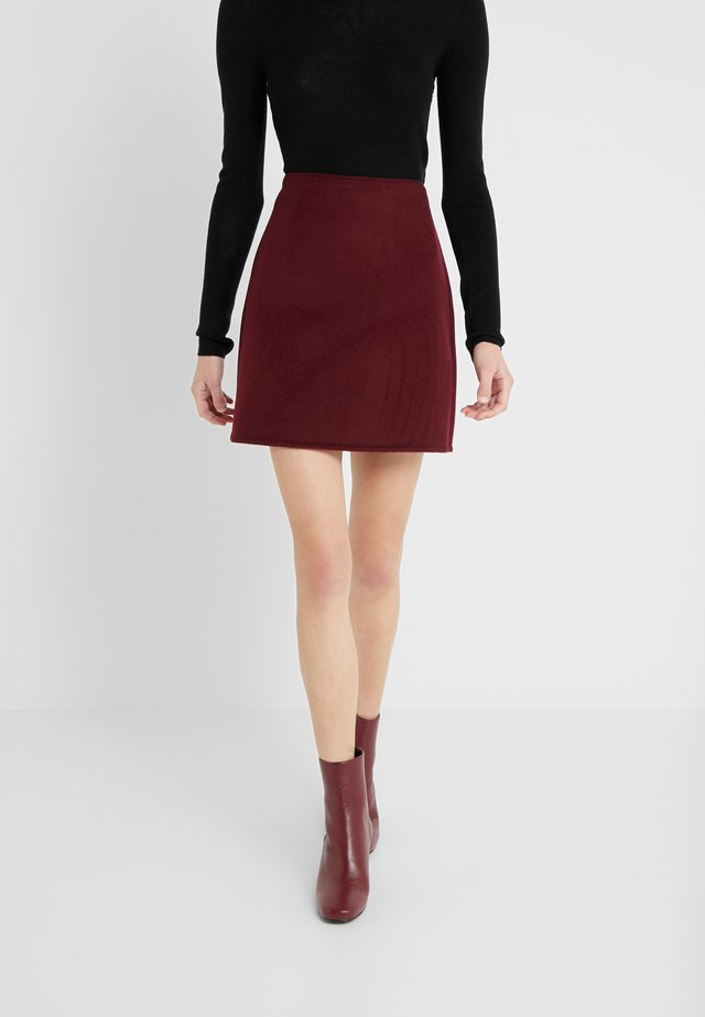 CENTIE SKIRT - A-line skirt - burgundy