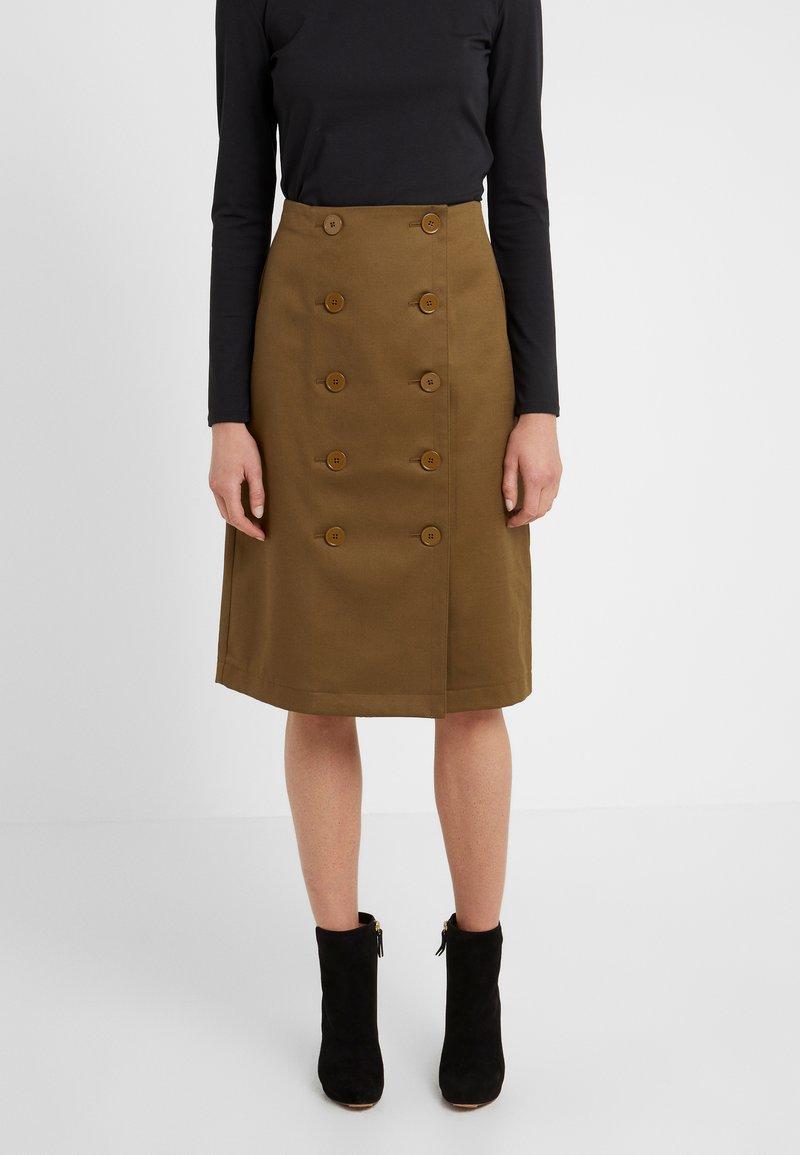 Club Monaco - LAVINYAH SKIRT - A-line skirt - dark olive