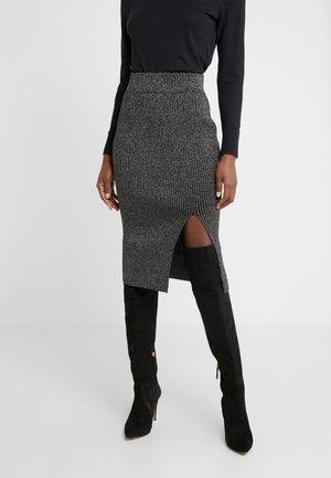 LUREX PENCIL SKIRT - Pencil skirt - black metallic