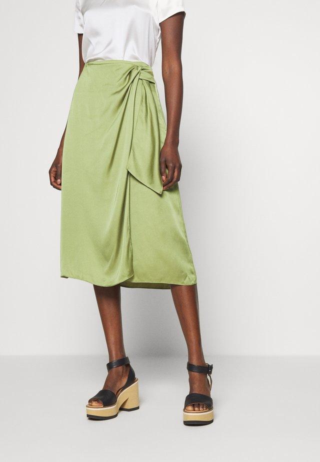 MIDI WRAP SKIRT - A-line skirt - green