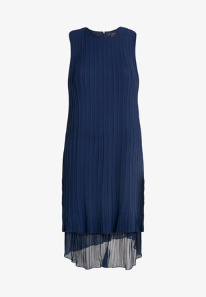 PLEATED HIGH LOW DRESS - Day dress - navy