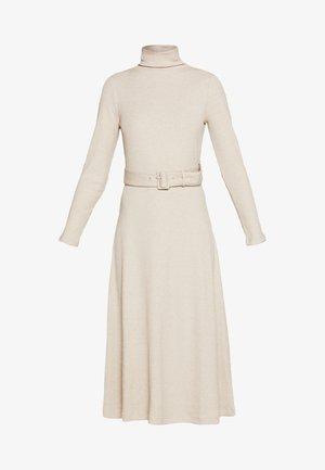 MELISSAH DRESS - Abito in maglia - oat melange