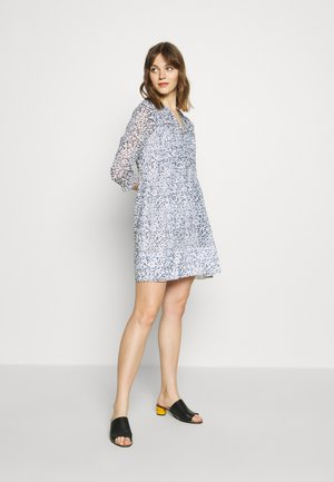 PLEATED SWING DRESS - Day dress - navy/multi