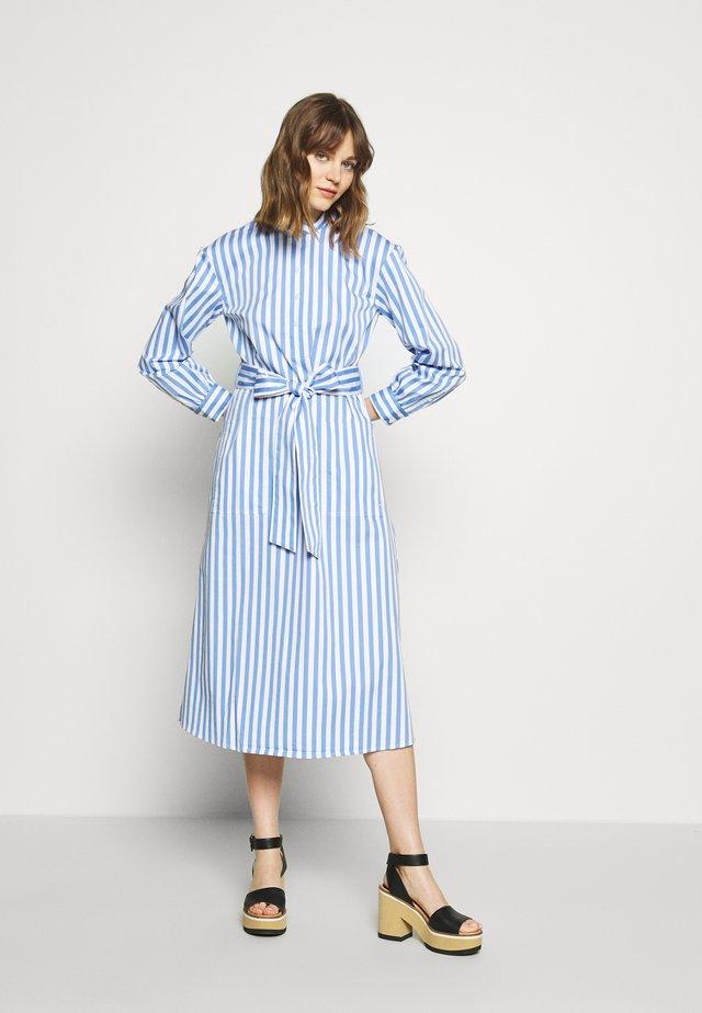 HALF PLACKET DRESS - Vestido camisero - blue