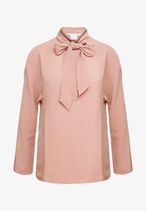 TIE NECK TOP - Bluse - pink