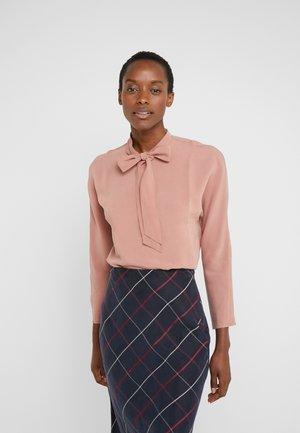 TIE NECK TOP - Blouse - pink