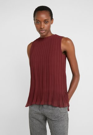 PLEATED SWING TOP - Blouse - currant