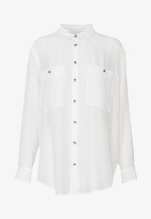 CASUAL BUTTON FRONT  - Button-down blouse - white
