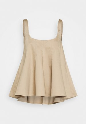WIDE NECK TANK - Blouse - khaki