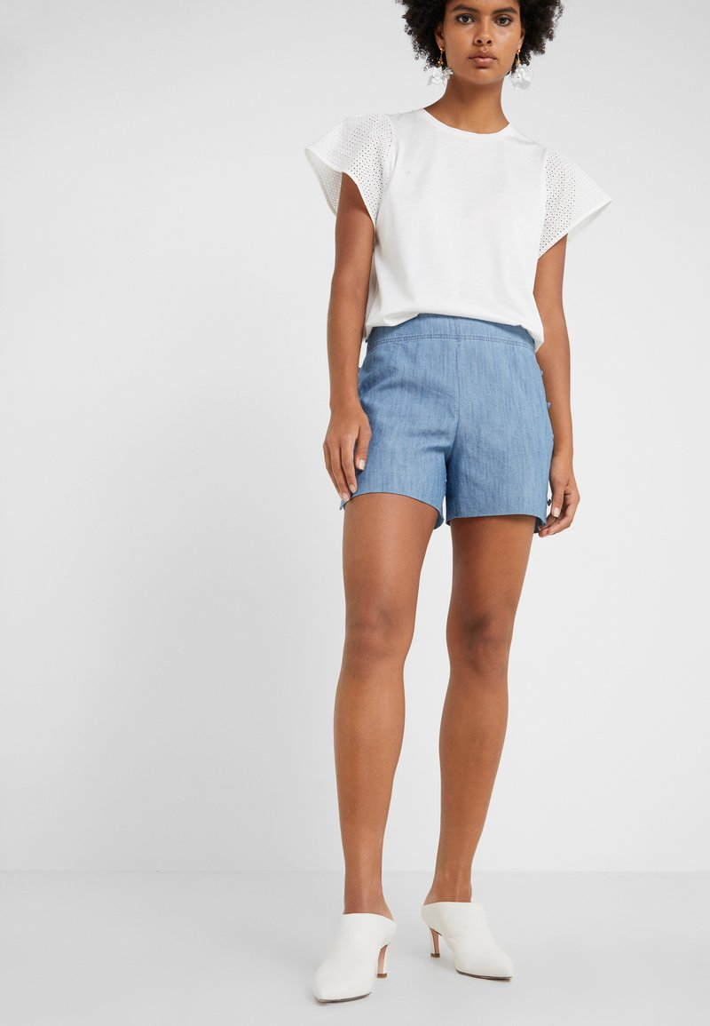 Club Monaco - MARNEE - Shorts - light wash