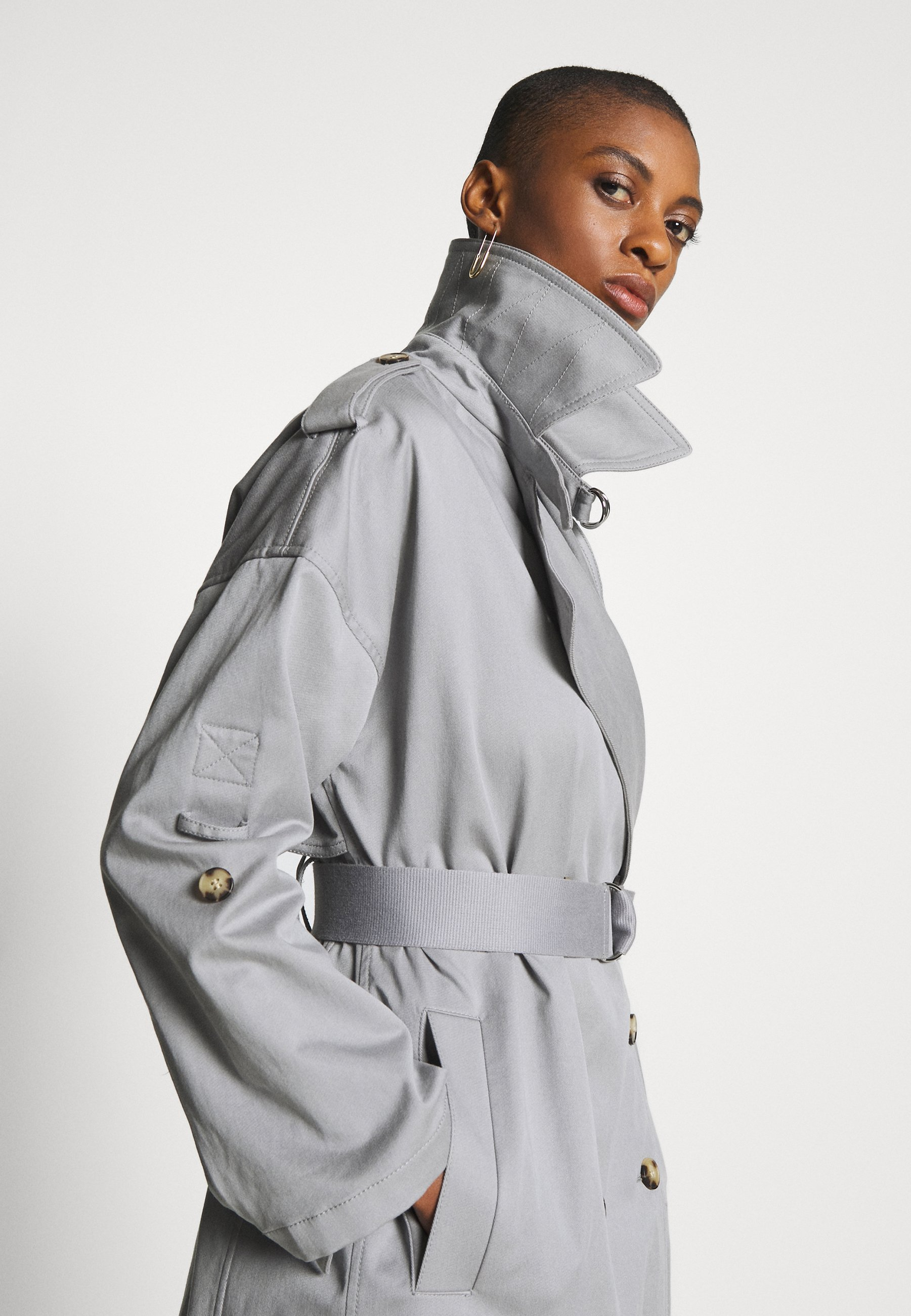 Club Monaco New Soft - Trenchcoat Blue Grey