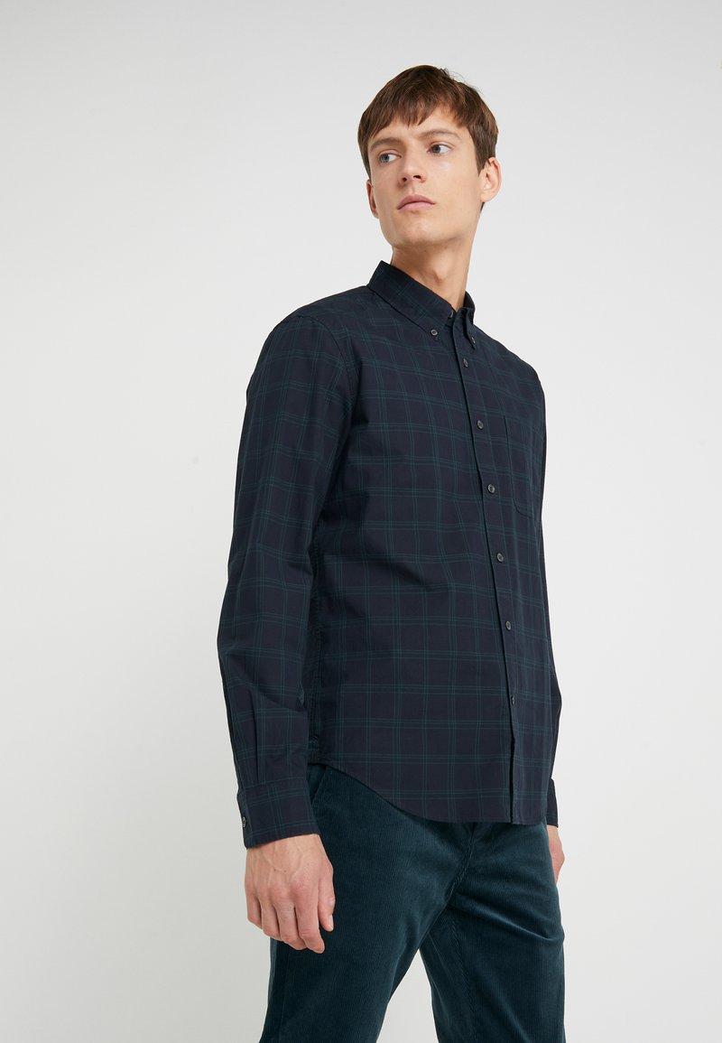 Club Monaco - WINDOWPANE  - Shirt - black/green