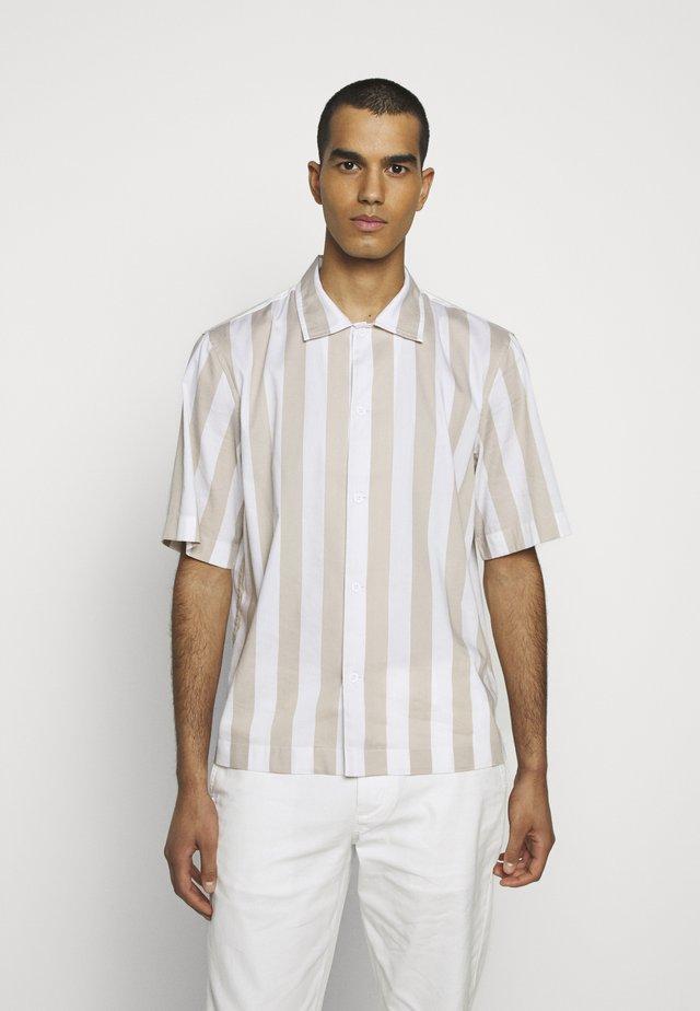 CONVERTIBLE COLLAR WIDE STRIPE - Shirt - khaki multi