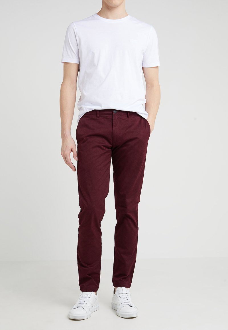 Club Monaco - CONNOR STRETCH - Chino - burgundy