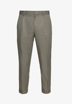 PLEATED CUFF TROUSER - Broek - pewter