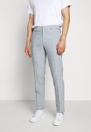 SUTTON WIDE STRIPE - Trousers - blue/white