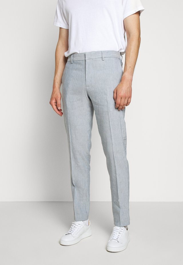 SUTTON WIDE STRIPE - Trousers - blue/white
