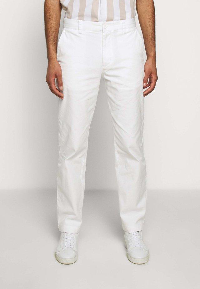 STRAIGHT LEG WORK PANT - Trousers - white