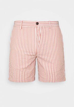 BAXTER SEERSUCKER - Shortsit - red/white