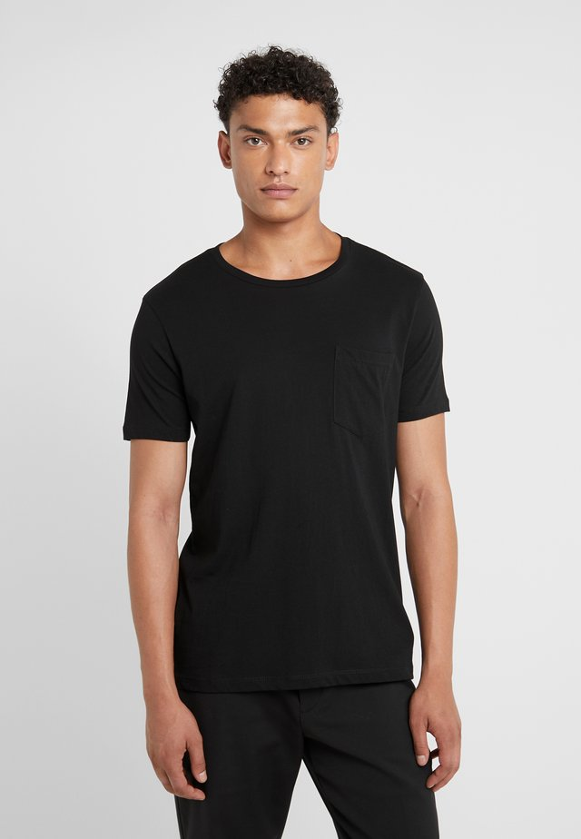 WILLIAMS TEE - T-shirt - bas - black