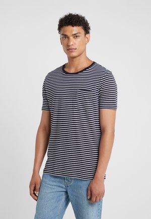 WILLIAMS TEE - T-Shirt print - navy/white