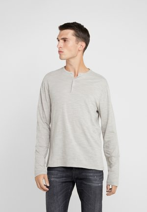 OPTIC SLUB HENLEY - Long sleeved top - grey