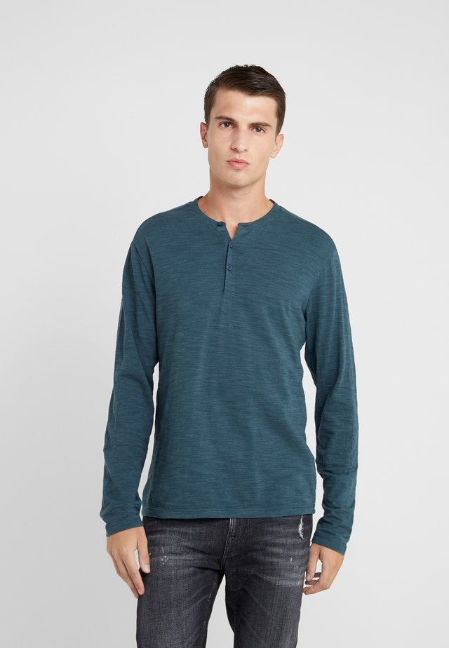 OPTIC SLUB HENLEY - Långärmad tröja - blue