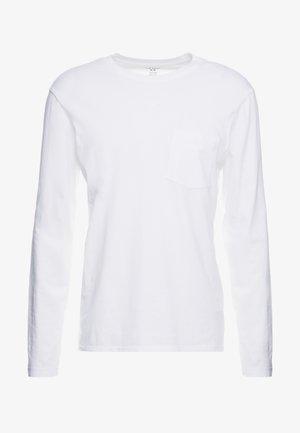 WILLIAMS TEE - Bluzka z długim rękawem - white