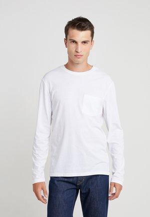 WILLIAMS TEE - Top sdlouhým rukávem - white
