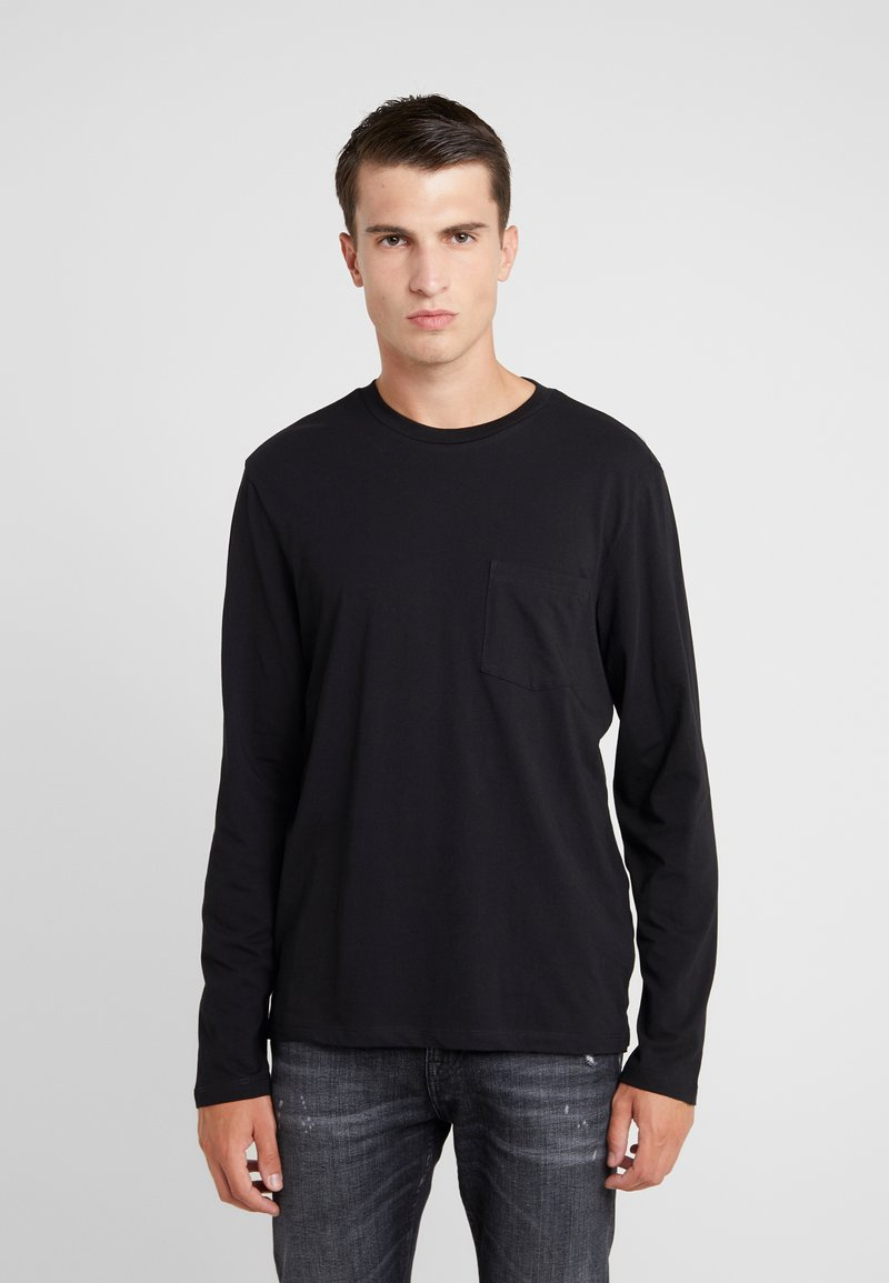 Club Monaco - WILLIAMS TEE - Langarmshirt - black