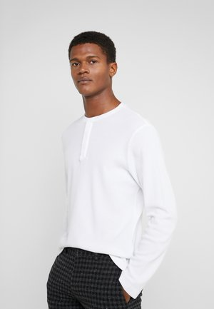 WAFFLE HENLEY - Long sleeved top - white