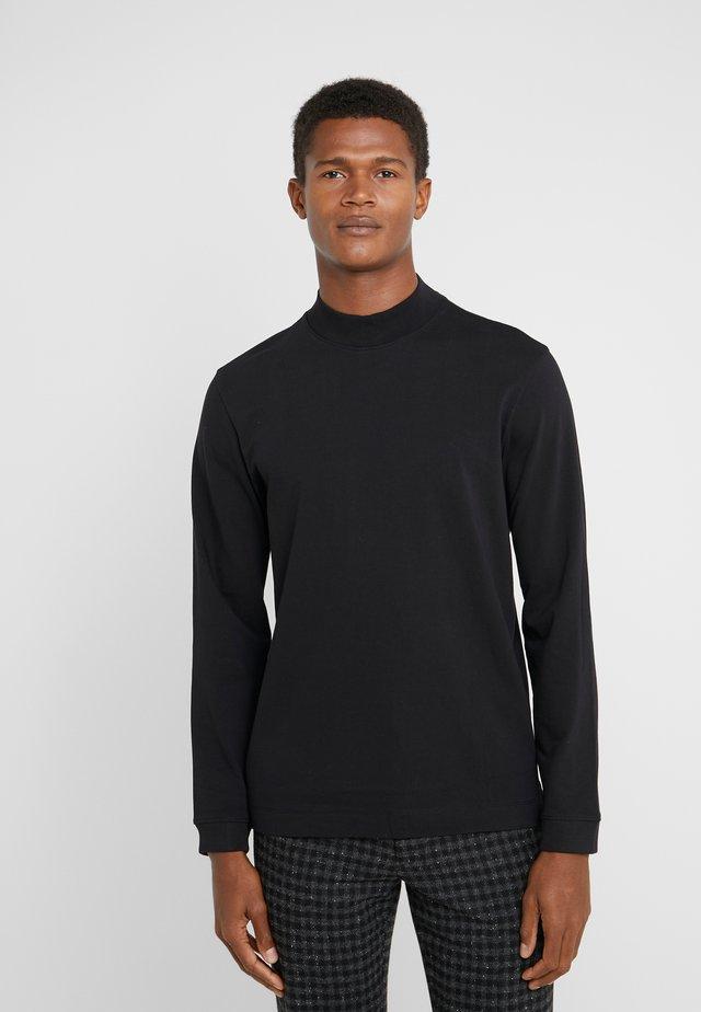 MOCKNECK TEE - Pitkähihainen paita - black