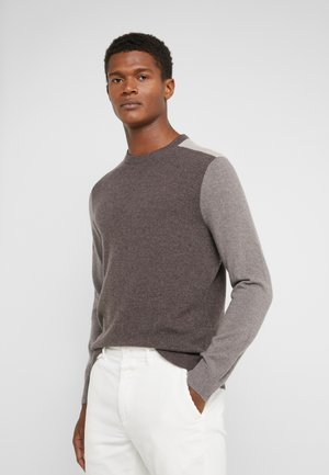 COLORBLOCK CREW - Jumper - beige/grey