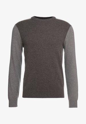 COLORBLOCK CREW - Maglione - beige/grey