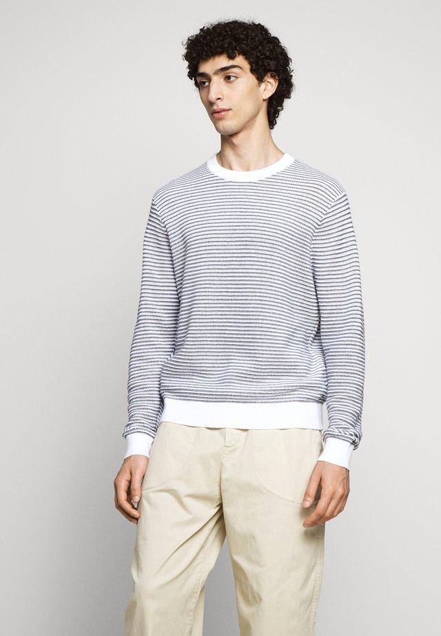 SUMMER CREW - Jumper - navy/white